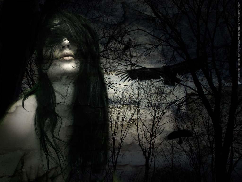 Dark gothic witch girls will